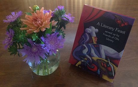 advance photo of cookbook and flowers in vase sized 20 percent