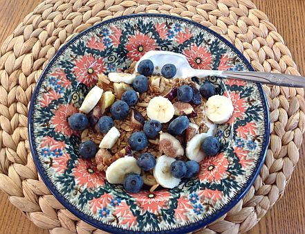 after the event serving photo of Polish pottery granola fruit sized 18 percent