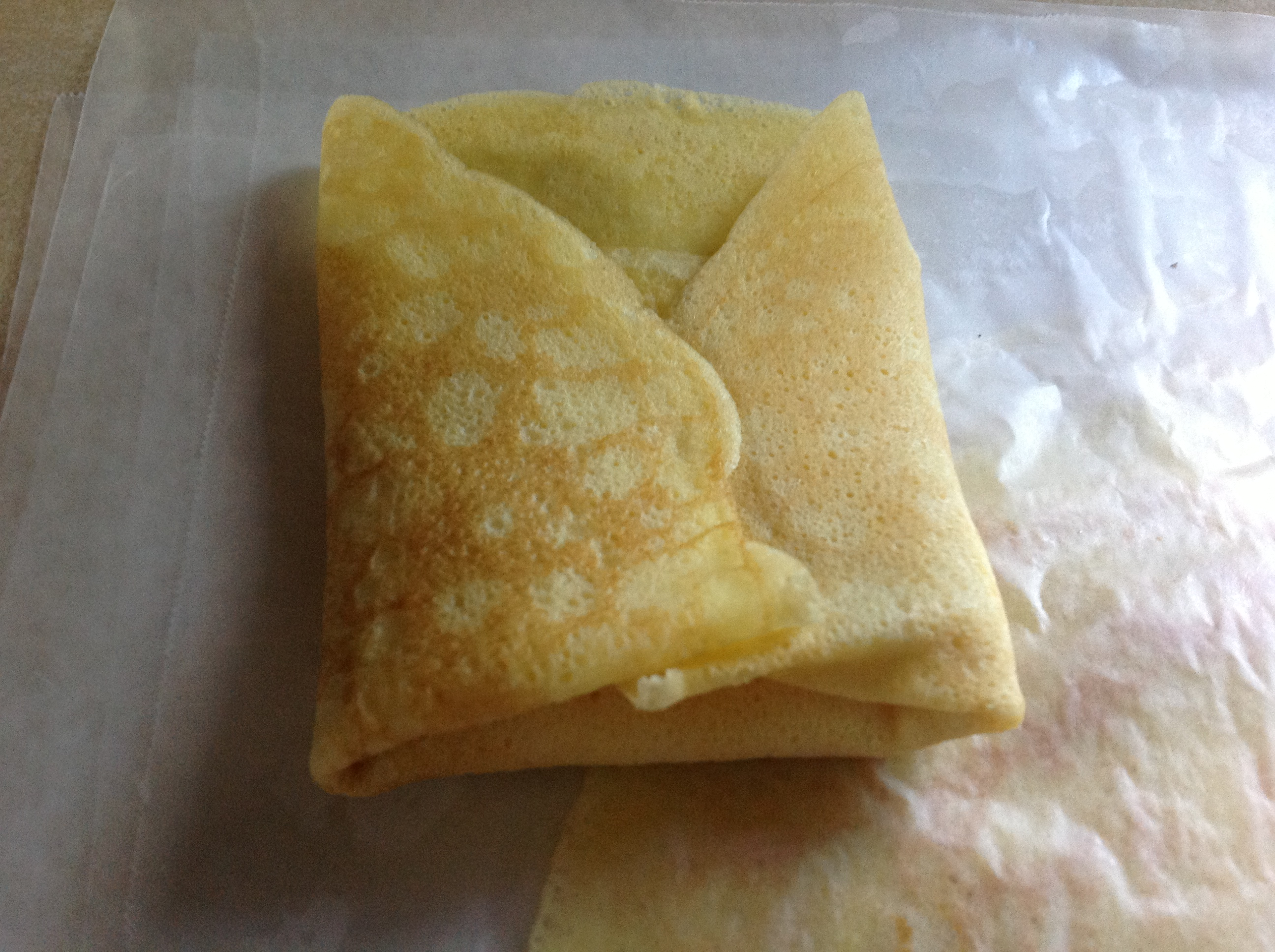 2nd and 3rd folds of crepe