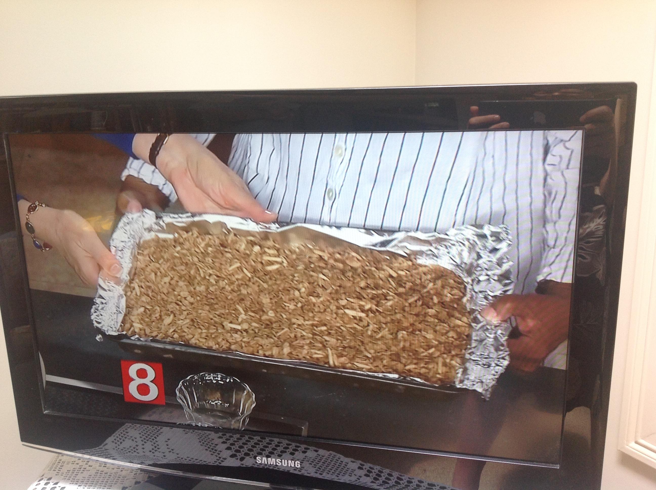 19 Closeup of baked tray of granola